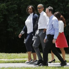 Photo Credit: Young (far left ) and other parents told the President about the challenges their families are dealing with.